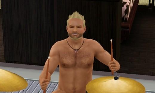 naked drumming 3