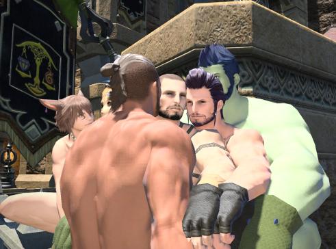 FFXIV Gay Cuddle 2
