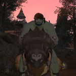 Roegady Riding a Chocobo