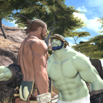 Roegadyn and Hyur Pointing